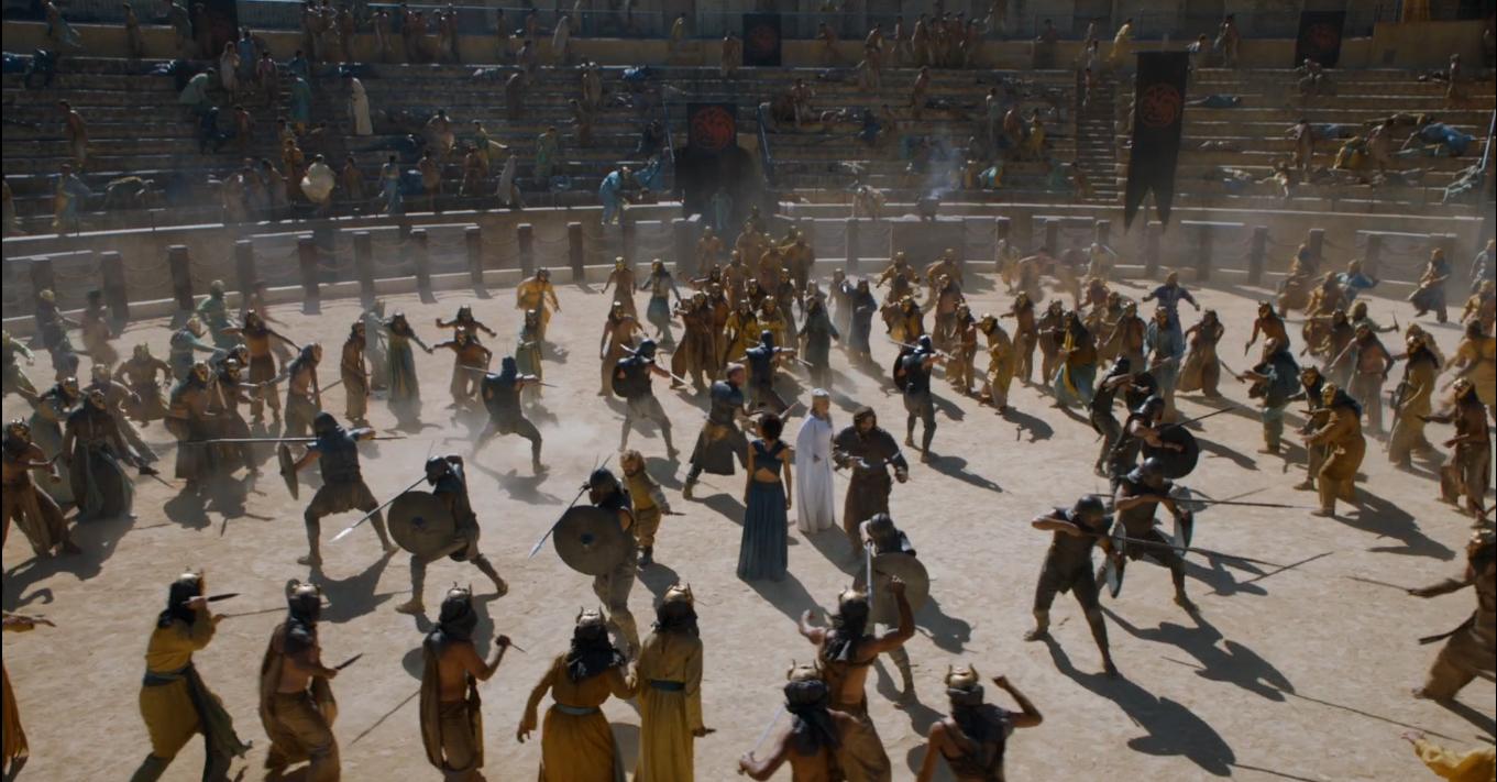 Lucha en la fosa daznak con los hijos de la arpia, en la ruta de juego de tronos - Los viajes de Margalliver